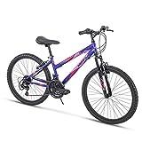 Huffy Bicycle Company Hardtail Mountain Bike, Summit Ridge, Lightweight, Purple, 24 Inch Wheels/14 Inch Frame