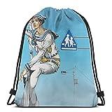 Yuanmeiju Drawstring Bag Sport Gym Backpacks Storage Goodie 's Bizarre Jotaro Kujo