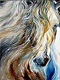 Cuadro de bricolaje caballo pintura al leo por kits de nmeros pintura acrlica por nmeros sobre lienzo pintura de animales pintada a mano A19 30x30cm
