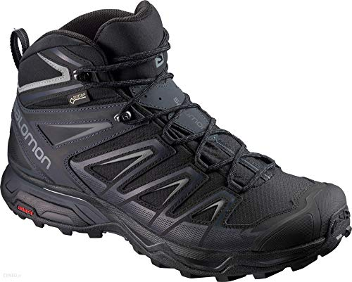 Salomon Men's X Ultra 3 Mid GTX Hiking Boots, Black/India...