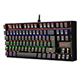 Redragon K552 Tastiera Gaming Meccanica al 60% Cablata Switch Red Cherry MX Equivalent per PC (Rainbow RGB Retroilluminato QWERTY-UK)