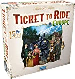 Ticket to Ride Europe Board Game 15th Anniversary Deluxe Edition | Family Board Game | Train Game | Ages 8+ | For 2 to 5 players | Average Playtime 30-60 minutes | Made by Days of Wonder