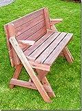 Holzbank Tisch Sitzgarnitur clevere Sache die Kombibank Gartenbank - 4