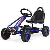 GOPLUS Go-Kart pour Enfant 3-6 Ans,Kart à Pédales Extérieur avec Siège...