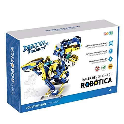 Xtrem Bots - Taller De Robótica Educativa, Juguetes Robotica para Niños 8 Años O Más, Robot Solar, Juegos Educativos, Construccion De Robots, Juguete Educativo 12 en 1