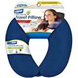 Cloudz Dual Comfort Microbead Travel Neck Pillow - Blue