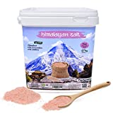 Nortembio Sal Rosa del Himalaya 6,7 Kg. Extrafina (0,5-1 mm). 100% Naturales. Sin Refinar. Sin Conservantes. Extraídas a Mano