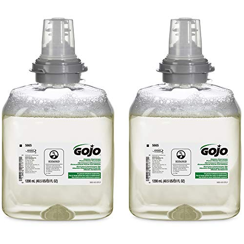 GOJO Green Certified Foam Hand Cleaner, Fragrance Free, EcoLogo Certified, 1200 mL Hand Soap Refill for GOJO TFX Touch-Free Dispenser (Pack of 2) – 5665-02