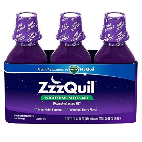 ZzzQuil Nighttime Sleep-Aid – Berry Flavor – 12 fl. Oz – 3 pk.