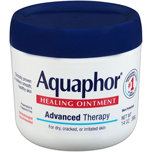 Aquaphor Healing Ointment - Moisturizing Skin Protectant for Dry Cracked Hands, Heels and Elbows, Use After Hand Washing - 14 Oz Jar