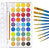 Jofefe 36 Colors Watercolor Paint Set, Water Colors Paint Box with...