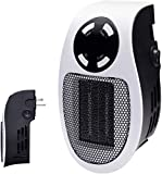 350W Space heater, Programmable Wall Outlet Space Heater As Seen on TV with Adjustable Thermostat and Timer and Led Display for Office Dorm Room
