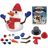"""Build your own 3"""" snowman & Watch it melt before your eyes Kit includes reusable melting putty, hat, scarf, eyes, nose, hats and Arms Great decoration for table or desk Gift Box boxed for Giving It is approximately 3 1/4"""" W x 4 1/4"""" D x 1 1/2"""" H when..."""