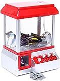 Machine à pince avec musique fête foraine - Rouge Blanc - Machine à bonbons pour bonbons et...