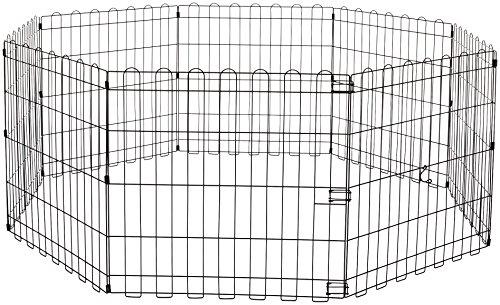 AmazonBasics – Faltbares Metall-Gehege, für Haustier, Hund, Trainingszaun, 152,4 x 152,4 x 60,9 cm