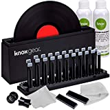"""Knox Vinyl Record Cleaner Spin Kit – Washer Basin, Air Drying Rack, Cleaning Fluid, Brushes and Rollers Dryer and Microfiber Cloths – Washes and Dries 7"""", 10"""" and 12"""" Discs"""