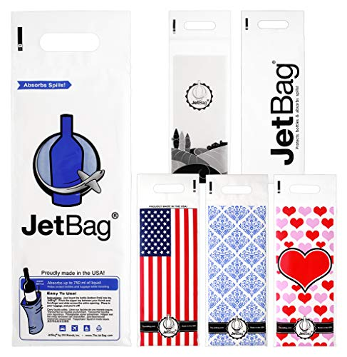 Jet Bag SAMPLER - The Original ABSORBENT Reusable & Protective Bottle Bags - Set of 6 - MADE IN THE USA