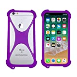 Silicone Case for Google Pixel 4 XL Shock-Absorption Bumper Cover Protective Flexible TPU Rubber Phone Case for Elephone PX/UNIMAX UMX U504TL(Purple)