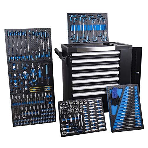 Servante d'atelier Chrono XL - 6 tiroirs sur 7 remplis d'outils