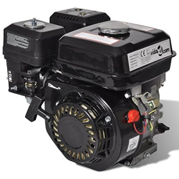 vidaXL Moteur à Essence 6,5 CH 4,8 KW Noir Moteur à Essence Cylindrée 196 CC