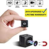 Mini Spy Camera cop cam HD 1080P Portable Small Nanny Cam Magnetic Security Camera with Night Vision/Motion Detection Indoor/Outdoor Surveillance Camera Home Car Office (Black)