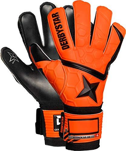 Derbystar Kinder Attack XP16 Torwarthandschuhe, orange schwarz, 7