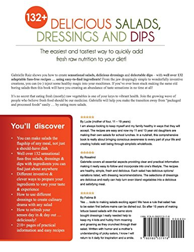 132+ Delicious Salads, Dressings And Dips: (Gabrielle's FUSS-FREE Healthy Veg Recipes) 2