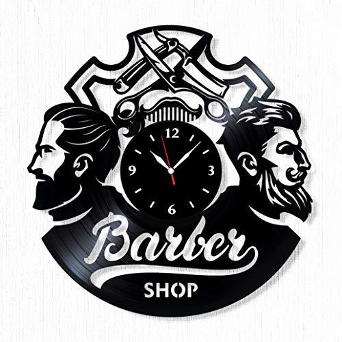 Barber Shop Vinyl Record Clock - Wall Clock Barber Shop -...