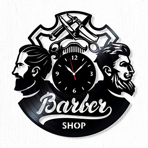 Barber Shop Vinyl Record Clock - Wall Clock Barber Shop -...