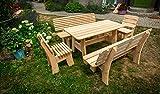 Larisa Stabil Gartentisch; unbehandeltem Erle Holz. 6 Bretter - 4