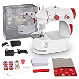 KPCB Sewing Machine for Beginners with DIY Bag Material for Kids (Red)