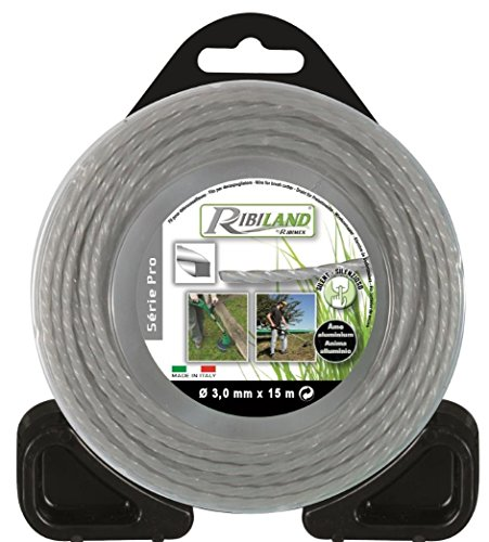 Ribimex - Filo professionale per decespugliatore quadrato, intrecciato, con anima in alluminio,...