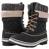 GLOBALWIN Women's Black Winter Snow Boots 9M