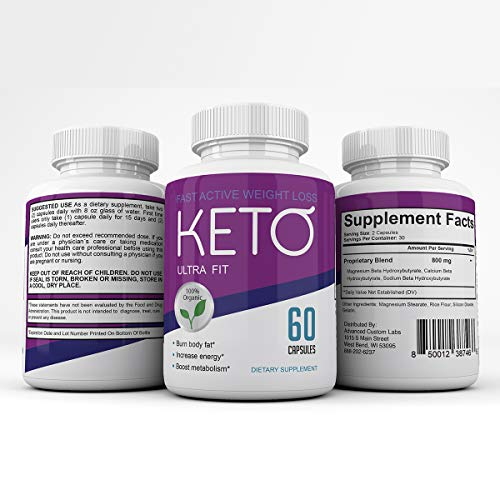 Keto Ultra Fit - Fast Acting Weight Loss with Metobolic Ketosis Support - 180 Capsules - 3 Month Supply 2
