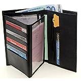 Portefeuille Homme Porte Carte Crédit Visite Monnaie En Cuir Synthétique...