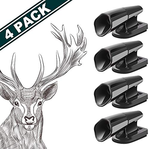 JCHIEN Deer Whistles for Car [4 Pack] Car/Motorcycle/Truck/Vehicle Deer Warning Deer Horn Safety Devices