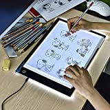 Tableau de copie à LED A4 super mince pour tableau de dessin avec câble...