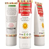 Natural Dark Outdoor Self-Tanning Lotion For Body Face And Legs-Rich In DHA Other Fatty Acids Antioxidants & Coconut Oil- Easy To Apply - Streak Reducing Self-Tanner – UV Protection-6 Oz.