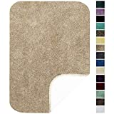 Maples Rugs Softec Non Slip Washable & Quick Dry Soft Bathroom Rugs [Made in USA], 17' x 24', Beige