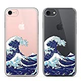 uCOLOR Japanese Wave Case for iPhone 6S Clear Case,iPhone 6 Transparent Clear Case for iPhone 8,iPhone 7 Hybrid TPU Bumple + Hard Back Cover for iPhone 6S/6/8/7 (4.7 inch)