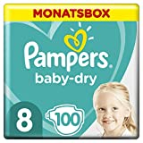 Pampers Baby-Dry Windeln, Gr. 8, 17kg+, Monatsbox (1 x 100 Windeln)