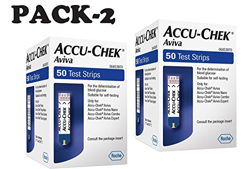 Accu-check Aviva Test Strips 50 - pack of 2
