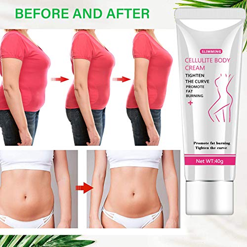 Hot Cream, Cellulite Slimming and Body Fat Burning Cream Weight Loss Serum Treatment Deep Tissue Massage for Shaping Waist, Abdomen and Buttocks 5