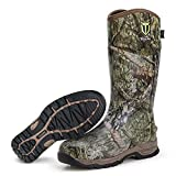 TIDEWE Rubber Hunting Boots, Waterproof Insulated Mossy Oak Country Camo Warm Rubber Boots with 6mm Neoprene, Durable Outdoor Muck Hunting Boots for Men (Size 9)