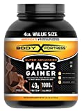 Body Fortress Super Advanced Whey Protein Powder Mass Gainer, Gluten Free, Chocolate, 4 lbs