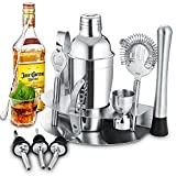 Shaker Cocktail, Gomyhom Kit cocktail 12 Pièces, Cocktail Shaker Kit En Acier Inoxydable 750ml,...