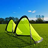 FORZA Flash Pop Up Soccer Goal - Ultimate Pro Portable Soccer Nets with Carry Bag - Available in 2.5ft, 4ft & 6ft - [Net World Sports] (6ft)