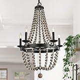 "LALUZ Wine Barrel Light Empire Chandelier for Living Room, 36.2"" H x 21.6 W"