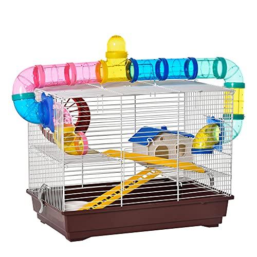 PawHut - Jaula para Hamster, Casa para Ratoncillos Roedores, Animal...