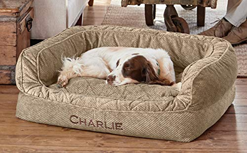 Orvis Comfortfill-eco Couch Dog Bed/Large Dogs 60-90 Lbs, Brown Tweed, Large